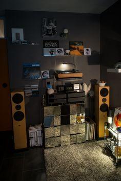 Headphone Amp, Grey Walls, Vinyl, Man Cave, Rum, Porcelain, Whisky, House, Design