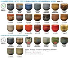 Amaco Potter's Choice high fire glaze (cone 6). I want all of them.