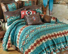 Save - on all Western Bedding and Comforter Sets at Lone Star Western Decor. Your source for discount pricing on cowboy bed sets and rustic comforters. Bedding Sets Online, King Bedding Sets, Comforter Sets, King Comforter, Brown Comforter, Queen Bedding, Western Rooms, Western Decor, Western Cowboy
