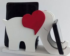 Elephant wooden cell phone holder, support for Apple iPhone Smartphone, phone accessories, tech gift for kids, gift for her