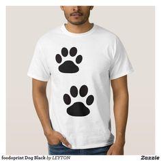 foodoprint Dog Black Camisas