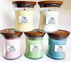 Bougies parfumées WoodWick! LA Bougie à la mèche et au bouchon en bois!