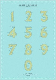 Islands - Numerology for Yorokobu Magazine on Behance
