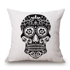 Aliexpress.com : Buy Skull Throw Pillow Case for Car 45x45cm Linen Decorative Sale Cushion Cover Capa De Almofada Linern Home Decor from Reliable pillow case decorating suppliers on Handicraftsman