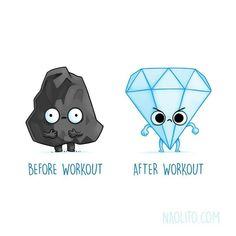 "Adorably Funny ""Before and After"" Illustrations That Are Oddly Relatable - before after - Cute Cartoon Drawings by Nacho Diaz Arjona - Cute Puns, Funny Puns, Funny Cartoons, Hilarious, Funny Humor, Funny Gym, Humor Texts, Funny Stuff, Humor Quotes"