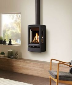 Gazco Gas Vogue Midi T Wall Mounted – Freestanding stoves, Gas stoves, Stovax & Gazco stoves, Wood burning & multi-fuel stoves – Murray Fireplaces Gas Stove Fireplace, Mounted Fireplace, Freestanding Fireplace, Freestanding Stoves, Foyers, Open Plan Kitchen Living Room, Log Burner, Wall Mount, Decoration