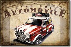 Grand Prix Automovile Black Poster Print by Bresso Sola Vintage Metal Signs, Vintage Box, Vintage Cars, Retro Vintage, Poster Vintage, Vintage Postcards, Vintage Images, Classic Motors, Classic Cars