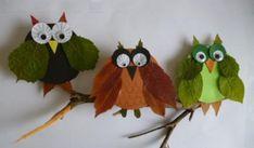 Fall Crafts With Children – Owl Handicraft For Cozy Hours Autumn Crafts, Autumn Art, Nature Crafts, Autumn Theme, Easy Crafts For Kids, Diy For Kids, Owl Crafts, Preschool Art, Leaf Art