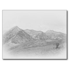 Get your hands on a customizable Sketch postcard from Zazzle. Find a large selection of sizes and shapes for your postcard needs! Landscape Sketch, Mountain Landscape, Poster Prints, Tapestry, Postcards, Eyes, Random, Design, Art