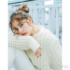 Girls Sweaters, White Sweaters, Cardigans For Women, Women's Sweaters, Mohair Sweater, Japanese Fashion, Sweater Weather, Cute Girls, Fashion Models