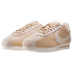 Nike Classic Cortez Premium Womens Trainers in Sand 5ef3584973