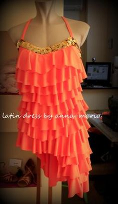 Φορέματα Χορού - φόρεμα λάτιν βολάν 73735128b73