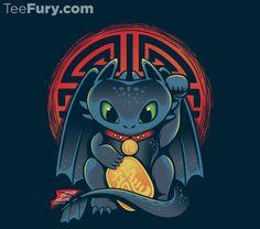 Maneki Dragon T-Shirt $11 Toothless tee at TeeFury today only!