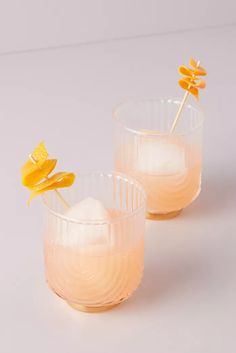 Gatsby Tumblers, Set of 2 by Anthropologie in Clear, Glassware Apple Cider Cocktail, Cider Cocktails, Gatsby, Candle Tray, Candles, Glazed Glass, Shops, Kitchen Collection, Cocktail Glass