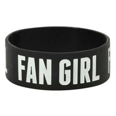 Fan Girl Rubber Bracelet | Hot Topic ($4) ❤ liked on Polyvore