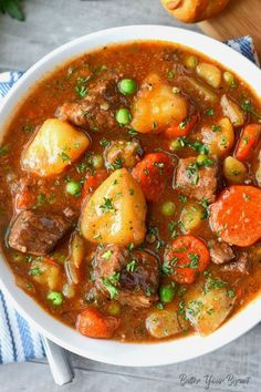 Hearty Beef Stew is part of Easy beef stew recipe - This Hearty Beef Stew will warm you to the bones Tender cubes of beef, carrots and potatoes in a rich delicious sauce Everyone is sure to crave! Slow Cooker Recipes, Crockpot Recipes, Healthy Recipes, Healthy Soup, Stewing Beef Recipes, Beef Soup Recipes, Recipes With Beef Soup Bones, Beef Chuck Recipes, Beef Tips And Gravy