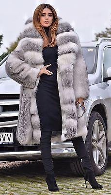 2016 arctic FOX manteau fourrure clas chinchilla sable mink lynx argent longue veste gilet