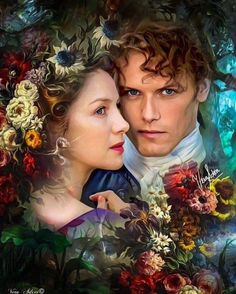 Fan art by ©Vera Adxer of Jamie and Claire Outlander Fan Art, Outlander Season 2, Outlander Quotes, Outlander Book Series, Sam Heughan Outlander, Starz Outlander, Outlander Casting, True Blood, Buffy