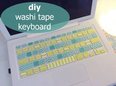 DIY washi tape keyboard - the diy mermaid