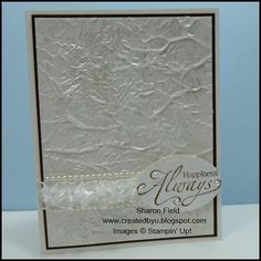 Silken_Pearls_by_Sharon_Field_Wedding_Card  I REALLY wish she would do a video tutorial of this technique. I am not quite understanding the written version and it is SO pretty.