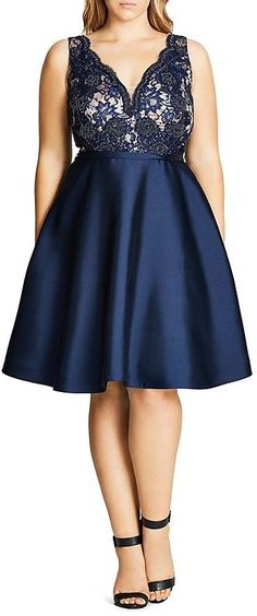 Plus Size Fit-and-Flare Dress