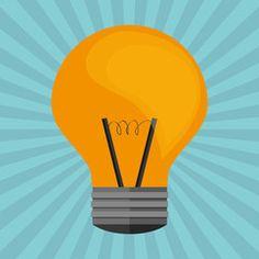 bulb design. Colorfull illustration, vector graphic