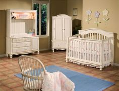 Adorable Nursery Furniture In White Accents For Unisex Babies: Extravagant Baby Room Decor Nursery Furniture Brow Wall Color ~ ootgo.com Furniture Inspiration
