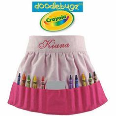 Solid Pink Crayon Apron
