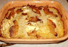 Krumplis-káposztás egytál pataki tálban | NOSALTY Lasagna, Quiche, Food And Drink, Pie, Cheese, Breakfast, Ethnic Recipes, Desserts, Torte