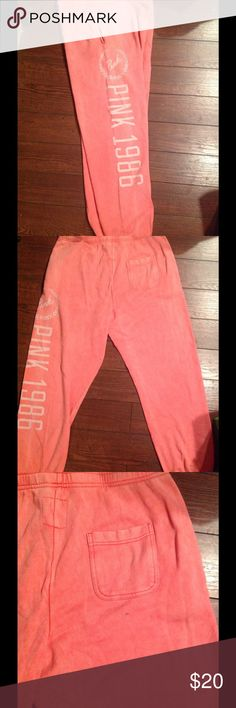 Victoria Secret Campus Pants L! Victoria Secret campus pants size large there is a minor spot on the back as shown in last picture full length!! PINK Victoria's Secret Pants Track Pants & Joggers