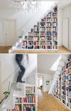 book storage - wish I had stairs!