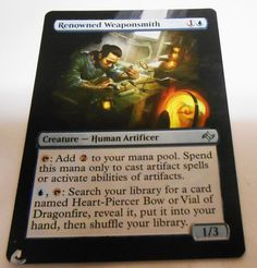 MTG Altered Painted Renowned Weaponsmith Fate Reforged #WizardsoftheCoast