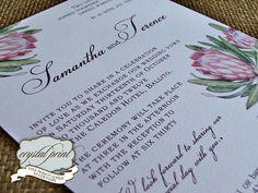love africa protea invitation