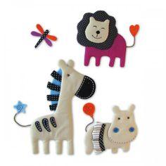 """Décoration jungle chambre de bébé : les stickers """"animal nature"""" de Babytolove"""