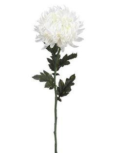 Chrysanthemum Silk Flower Stem in White - Tall x Bloom Fall Wedding Bouquets, Fall Wedding Flowers, Fall Flowers, Flower Bouquet Wedding, White Mums, White Roses, White Flowers, White Silk, White Chrysanthemum