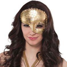 Idyllic Gold Half Mask - Party City