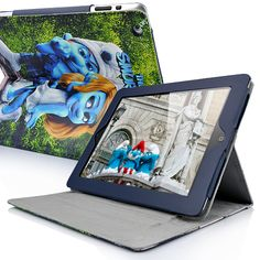 The Smurfs Smurfette And Gutsy Pattern Leather Stand Case For The new iPad/iPad 2  PriceUS $13.98