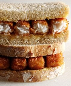 fish finger sandwich photographed by Jess Koppel, Easily pleased Baby Food Recipes, Baking Recipes, Traditional English Food, Great British Food, Fish Finger, Good Food, Yummy Food, Finger Sandwiches, Pub Food