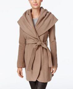 T Tahari Marla Wool-Blend Wrap Coat  $159.99 Can't wait for cool days: Tahari's wool-blend wrap coat is a fresh look that's full of sophistication.