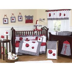 Polka Dot Ladybug Crib Bedding
