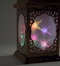 Solar Lighted Lanterns with Swirling Lights | Solar Accents