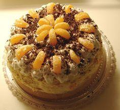 Trasená torta mandarinková