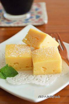 レンジで簡単チーズケーキ