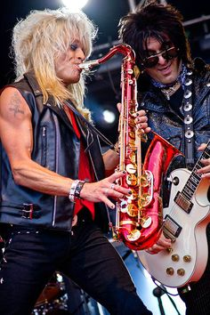Mike with his sax...