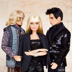From Barbie Style on Instagram, Hansel and Derek Zoolander dolls. Here's the photo description: barbiestyle So hot right now. #barbiezoolander #zoolander2 #barbie #barbiestyle
