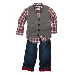 Who said Little Boys dont have as cute of clothes?? I LOVE this outfit.. maybe I will have another baby after all ;)
