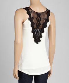 Another great find on #zulily! Casa Lee White Lace Tank by Casa Lee #zulilyfinds