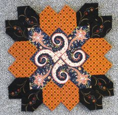 Lucy Boston Block 36 by Muriel for the POTC Blog Along at Little Quilts