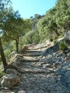 On the way up to Castell d´Alaró