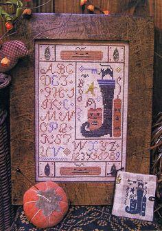 Spooky Stuff Button Sampler Cross Stitch by HomespunElegance